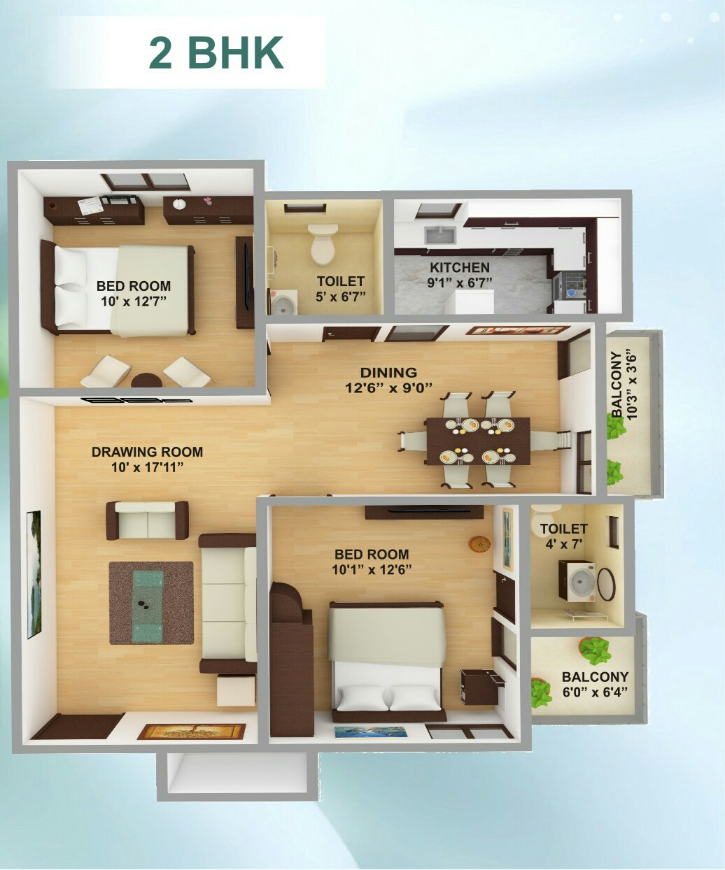 2 bhk flat for sale in Kamothe